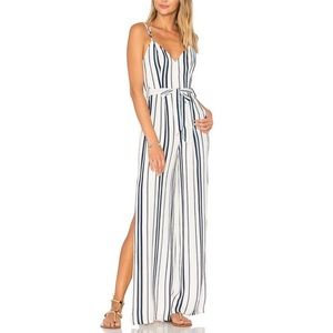 Lovers + Friends | Striped Belted Jumpsuit - M8